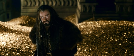 Thorin (Richard Armitage) has succumbed to the same disease that afflicted his grandfather and his father: greed. Copyright: ©2014 WARNER BROS. ENTERTAINMENT INC. AND METRO-GOLDWYN-MAYER PICTURES INC. (US, CANADA & NEW LINE FOREIGN TERRITORIES) ©2014 METRO-GOLDWYN-MAYER PICTURES INC. AND WARNER BROS. ENTERTAINMENT INC. (ALL OTHER TERRITORIES) ALL RIGHTS RESERVED Photo Credit: Courtesy of Warner Bros. Pictures