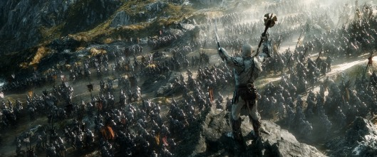 "Azog the Defiler leads his troops into battle in this scene from ""The Hobbit: The Battle of the Five Armies.""  Copyright: ©2014 WARNER BROS. ENTERTAINMENT INC. AND METRO-GOLDWYN-MAYER PICTURES INC. (US, CANADA & NEW LINE FOREIGN TERRITORIES) ©2014 METRO-GOLDWYN-MAYER PICTURES INC. AND WARNER BROS. ENTERTAINMENT INC. (ALL OTHER TERRITORIES) ALL RIGHTS RESERVED Photo Credit: Courtesy of Warner Bros. Pictures"